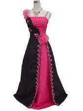 Robe de cérémonie longue noir/rose cocktail, soirée, gala, mariage T 38/40