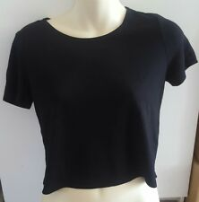 FOREVER 21 BLACK KNIT TOP SHIRT WOMENS SMALL OPEN BACK NEW NWT
