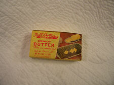 VINTAGE HALL BROTHERS DAIRY 1/2 LB BUTTER BOX HALL DAIRY MONTGOMERY ALABAMA