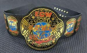 ECW World Heavyweight Wrestling Champion Belt Adult Size  Black Leather 2mm