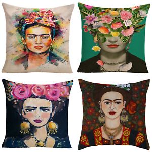 4pce Set of Mixed Frida Kahlo Cushions 45cm Mexican Inspired Design Bundle