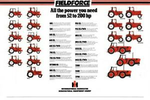 THE INTERNATIONAL CASE STABLE TRACTOR RANGE SALES BROCHURE/POSTER 80's ADVERT A3