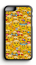 Emoji Faces Hard Plastic OR Rubber Phonte Case For Iphone/ Samsung/ Goggle