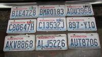9 Washington State license plates Plate WA car truck LOT OF 9