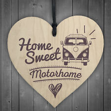 Home Sweet Motorhome Caravan Friendship Plaque Novelty Chic Camping Holiday Sign