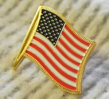 USA Flag Pin American Lapel hat BEST QUALITY like jewelry! gold fringe detail