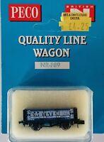 Peco - N Gauge - NR-P89 - 5 Plank Wagon - E A Stevenson - Blue