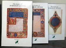 THE LETTERS OF MARSILIO FICINO - KRISTELLER 1st/1st 3 Vol Set 1985, RENAISSANCE