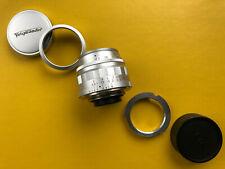 Voigtländer Ultron 35mm 1,7 ASPHERICAL E39 und Leica M Anschluss.