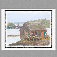 6 Bailey Island Lobster Shack Maine Coast Blank Art Note Greeting Cards