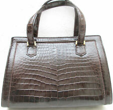 HERMÈS Pullman Sac à main CROCO  Authentique TBEG vintage 60's