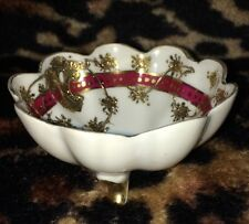 Mikado☆Extra☆Hand☆Painted☆GOLD/RED/WHITE☆Container☆Bowl/Dish☆CERAMIC☆Made☆Japan