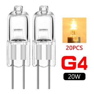 20 pcs g4 base jc type tungsten halogen bulb lamp light super bright 12v 20w 8E