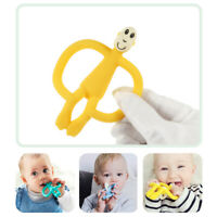Baby Silicone Teether Monkey Animal Infant Teething Dental Chew Soft Toy Clean
