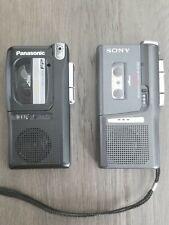 2 Micro-Cassette Recorders Sony M-679V & Panasonic Rn-402