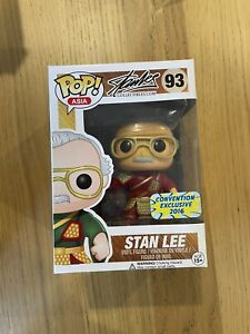 Asia Stan Lee Red Guan Yu Convention Exclusive 2016 Funko Pop Creases On Box