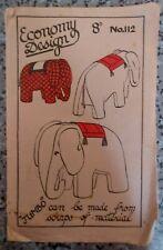 UNCUT VINTAGE WW2 1940s ECONOMY DESIGN Toy Sewing Pattern (No.112)