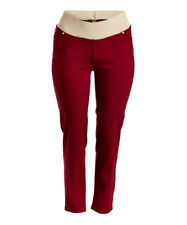 Plus Size UK 24 Ladies Skinny Jeans Burgundy Red Comfort Band Stretch BNWT #380