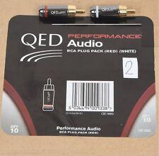 QED Performance Cinch-Stecker 2 Paar (je 2 Stck. ROT und 2 Stck. WEIß)