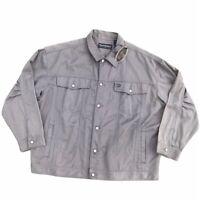Vintage Pelle Pelle Marc Buchanan Denim Jean Button Jacket Gray Streetwear 3XL