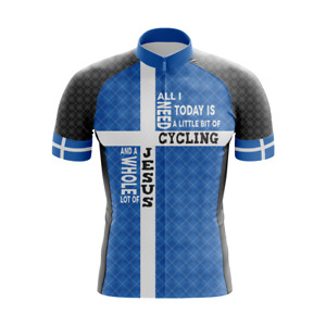 CYCLING & JESUS SHORT SLEEVE CYCLING JERSEY