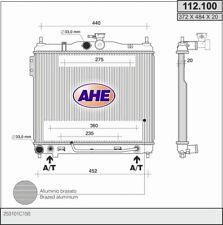 Radiatore HYUNDAI GETZ (TB) 1.3 i 60kw 02-04