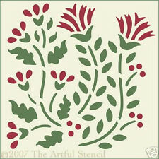FLOWER BLOCK STENCIL - GARDEN -  The Artful Stencil