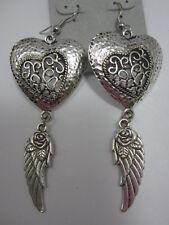 Heart Wing Dangle Earrings