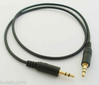 2pcs 0.6M 2FT 3.5 Stereo Plug to Plug Gold M/M Audio Cable NEW