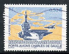 TIMBRE FRANCE OBLITERE N° 3557 PORTE AVIONS CHARLES DE GAULLE