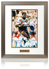 Large Martin Offiah Hand Signed Great Britain Rugby League Aftal Photo Proof Coa
