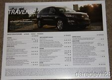 2013 Chevy Traverse info card