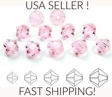 50pc 4mm Swarovski Austrian Bicone Light Rose Pink Crystal beads Jewelry making
