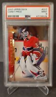 2007 UPPER DECK #227 CAREY PRICE YG RC UD YOUNG GUNS ROOKIE PSA 9 CANADIENS