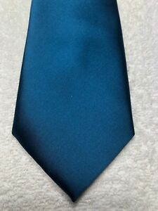 PUCCINI MENS TIE SOLID BLUE  3.5 X 60 NWOT