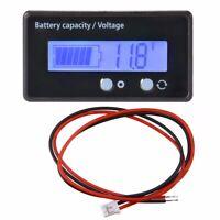 Blue LCD 12V 24V 36V 48V Lead-Acid Battery Status Voltmeter Monitor Meter Car