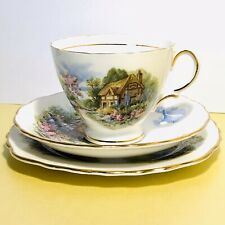 Vintage Teacup Trio Country Cottage Pattern By Royal Vale
