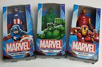 "THREE Marvel Avengers Action Figures Captain America Hulk & Ironman 6"" Bundle"