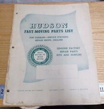 1953 HUDSON MOTOR CAR CO FAST MOVING PARTS LIST SUPPLY BOOKLET -M35