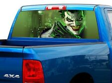 P525 Evil Clown Rear Window Tint Graphic Decal Wrap Back Truck Tailgate