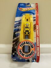 Hot Wheels Racing Sound Launchers Red With Yellow Car 2010 New