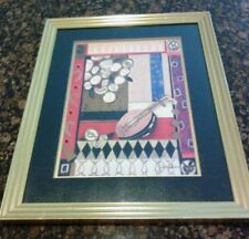 "Liz Jardine "" Musical Interlude "" Signed Framed & Matted art print 23x29"""