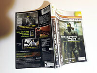 Splinter Cell xbox replacement cover art insert only! original