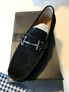 "Womens Alfani Black Leather Suede "" James Driver""  Flats 11.5 W NWB"