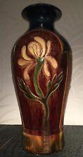 Laigneil (1898-1926) large Art Nouveau earthenware vase Flemish Pottery Belgium