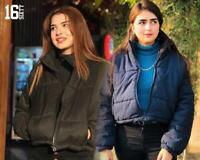 Women's Hooded Puffer Zip Up Gilet Quiilted Padded Vest Jacket Crop Bodywarmer