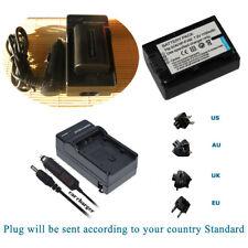Battery +Charger for Sony NP-FV50 FV70 DCR-SX65 DCR-SX65E Handycam Camcorder