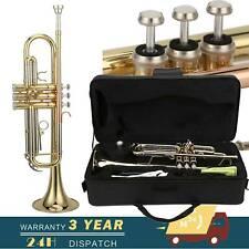 More details for trumpet b standard bb trumpet set for student beginner with hard case