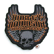 HARLEY DAVIDSON MOTORCYCLES GOTHIC WINGS SKULL VEST JACKET PATCH