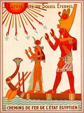 L Egypte pays du Soleil Eternal Egypt Vintage Travel Advertisement Art Poster